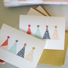 Party hats greeting card by Haven Paperie