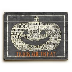 Jack O' Lantern Wood Sign