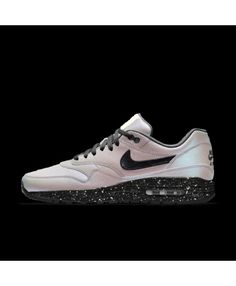 93c95f9d2d93 Nike Air Max 1 Mens Id White Pearl Black Sail Speckle Shoes Outlet