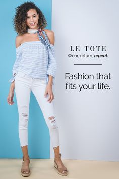 Try Le Tote for as little as $39 a month & get your personalized box of fashion delivered right to your door. Wear everything for as long as you like, return when you're done and repeat as many times a month as you want. No styling fees, no purchase required. Sign up today!