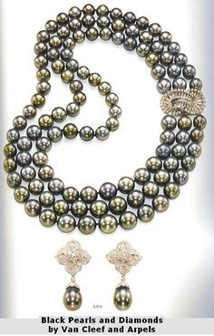 Black Pearls and Diamonds by Van Cleef and Arpels