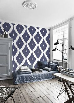 Awesome And Artistic Vinyl Material Self Adhesive Temporary Wallpaper Easy To Use L