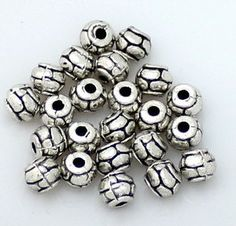 100pcs--Beads, Drum, Antique Silver, 5x5.80mm Metal Beads, Antique Silver, Drums, Trending Outfits, Antiques, Unique Jewelry, Handmade Gifts, Etsy, Vintage