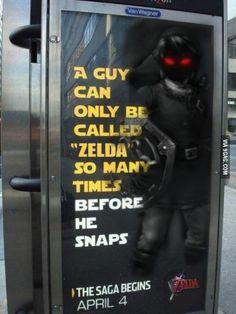 Call me Zelda one more time!! I dare you!!
