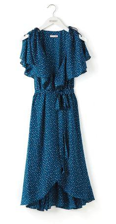 The Eva Mendes Collection - Natalie Polka-Dot Capelet Dress