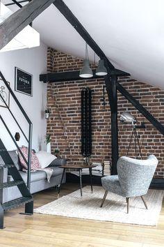 Living room, bricks, Odwzorowanie - Kreujemy autentyczne wnętrzna