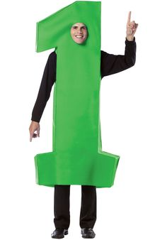 Be first in line for the best costume award in this numeric tunic-style getup. The fun, all-in-one design lets you make a total transformation without fuss. Cool Costumes, Adult Costumes, Costume Ideas, One Design, Dress Up, Cold Shoulder Dress, Green, Blue, Marathon