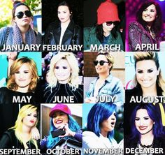 Demi Lovato - 2013. Is it a coincidence my favorite hair of hers was in may and that just so happens to be my birthday month? I think not!