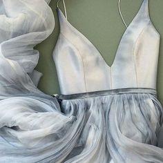 Elegant straps v-neck long prom dress senior prom dress