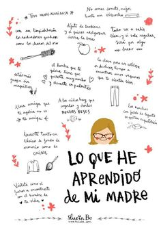 Lo que he aprendido de mi madre Mom Quotes, Life Quotes, Daily Quotes, Mr Wonderful, Mom Day, Teaching Spanish, More Than Words, Spanish Quotes, Happy Mothers Day