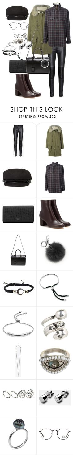 """Untitled #281"" by veronice-lopez ❤ liked on Polyvore featuring J Brand, Yves Saint Laurent, San Diego Hat Co., Gianvito Rossi, Michael Kors, mizuki, Monica Vinader, Alexander McQueen, ASOS and Ray-Ban"