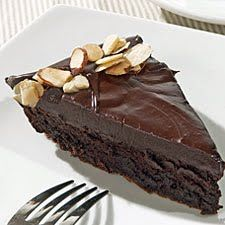 Flourless Chocolate Cake This cake features both chocolate and cocoa; the combination gives it a rich, dark color, and deep chocolate flavor. A chocolate ganache glaze takes it over the top. Passover Desserts, Passover Recipes, Jewish Recipes, Köstliche Desserts, Gluten Free Desserts, Delicious Desserts, Baking Recipes, Cake Recipes, Flourless Chocolate Cakes