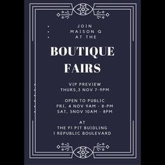 If you're in Singapore come visit @maisonqofficial at Boutique Fairs at the F1 Pit Building last day today. Lots of pop-up shops too.