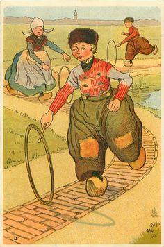 1380 - Set of 6, LITTLE HOLLANDERS, L.G. Lebegue - 1904