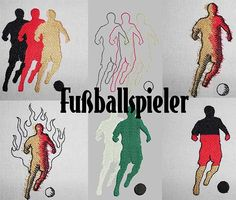 Fußballspieler machine embroidery design www.cyncopia.com