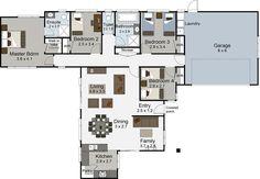 accolade 4 bedroom house plan landmark homes builder nz - House Plans Landmark Homes New Zealand