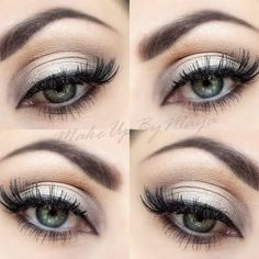 Beautiful eye makeup application #glameyes