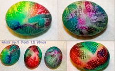Let kids have fun decorating eggs in tie dye designs - each one is unique! What's your favorite way to decorate eggs with kids?