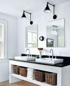 badkamer met betonmuurtjes...