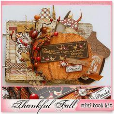 gogo girl scrapbooking kit mini album thanksgiving thankful fall scrapbook photo album scrapclubs.com