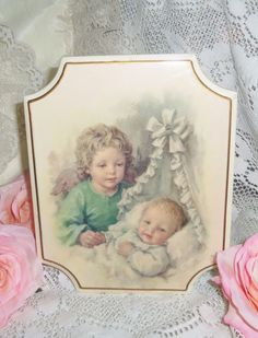 Nursery Picture Wallhanging  Vintage Babys by MeadowCottageGifts, $10.00