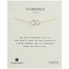 Dogeared Friendship Double Linked Rings Chain Bracelet ($40) ❤ liked on Polyvore featuring jewelry, bracelets, handcrafted jewellery, dogeared jewelry, chains jewelry, hand crafted jewelry and handcrafted jewelry