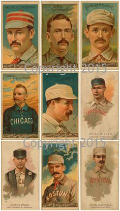 Printed Vintage Baseball Collage Sheet 102  by PaperRoseCottage