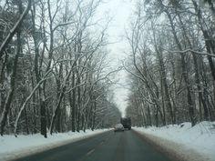 Driving through Ożarów Mazowiecki on a nice snowy day. Huge cup of hot tea afterwards :)
