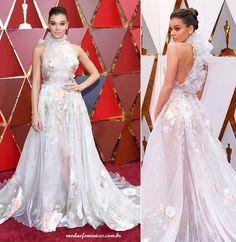 a9e369499 Vestido Dress Hailee Steinfeld de Ralph & Russo - Os looks do Oscar 2017 -  Red Carpet - Moda & Feminices