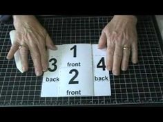 """This tutorial demonstrates how to make a """"Never-Ending"""" or """"Endless"""" greeting card using a system to number each piece of the card."""