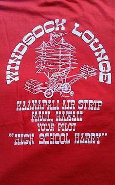 Vintage 60's Hawaii High School Harry Windsock Lounge T- Shirt Men's Large