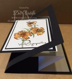 Fun scrappers journey inks and stamps     tunnel-tiger-lily-card-making-tiger-blooms-z-fold-flip-flop-black-and-white-fun-stampers-journey-deb-valder-richard-garay-4