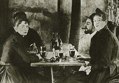 """Lautrec y la Goulue en el jardín del """"Moulin de la Galette"""" ca. 1887"""