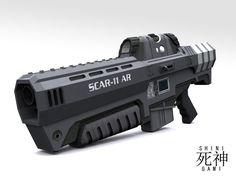 SCAR-11 AR Front View by Shinigami12.deviantart.com on @DeviantArt
