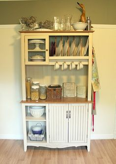 pretty white kitchen hutch. I need this for my dream country kitchen!
