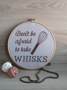 Don't be afraid Kitchen cross stitch pattern Funny by AnnaXStitch