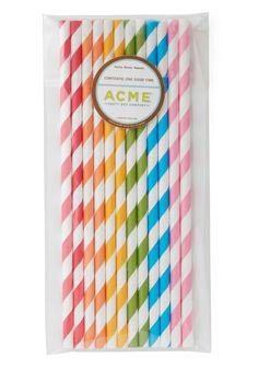 rainbow straws!