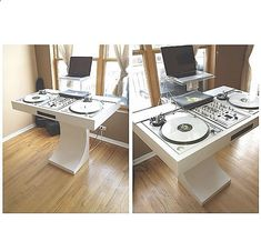 I want that so fucking badly Dj Dj Dj, Dj Stand, Dj Table, Music Studio Room, Dj Setup, Recording Studio Home, Dj Booth, Dj Equipment, Techno