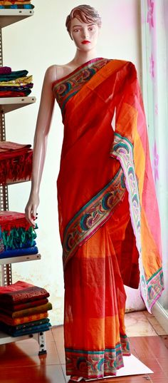 Banarasi brocade patch worked  Chanderi cotton saree  INR 2300
