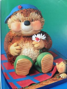 Wow amazing Hedgehog cake! Teddy Bear Party, Teddy Bear Cakes, Girly Cakes, Big Cakes, Unique Cakes, Creative Cakes, Fondant Cakes, Cupcake Cakes, Cupcakes