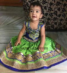 Light Green Mirror Lehenga - Indian Dresses