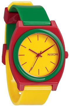 Nixon - The Time Teller P Watch in Rasta