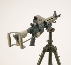 Cool AR-15/M-16 Spade Grip Accessory.