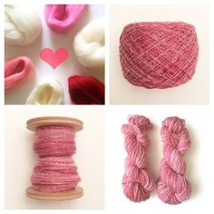 48/365: Pink V-day spinning. A blend of alpaca, silk, and Merino wool. #spin365 #365challenge #spinningwool #spinningyarn #spinningfiber #merino #fiber #colorway #poemsaboutmeshop #poemsaboutmeknits #etsy #handspun #handmade #2ply #gradient #colorgradient