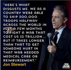 Jon Stewart speaks the truth. How come journalists and news orgs do not have the courage our comedians do for exposing injustices?