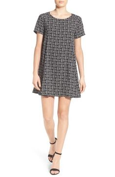 Lush Print Short Sleeve Swing Dress available at #Nordstrom
