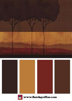 Natural color palette inspired by: Autumn Silhouettes I by Tandi Venter