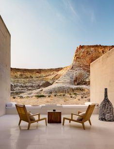 Amangiri Resort + Spa in Canyon Point, UT by Marwan Al-Sayed Inc. Architecture + Design, Wendell Burnette and Rick Joy; Amangiri Hotel, Amangiri Resort Utah, Outdoor Spaces, Outdoor Living, Outdoor Decor, Outdoor Seating, Les Hamptons, Fun Deserts, Desert Oasis