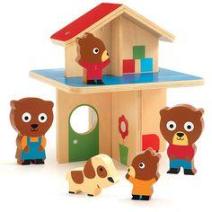 Casa de madera con ositos - Djeco