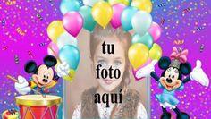 Feliz Cumpleaños Mickey Mouse Marcos para fotos Miki Mouse, Birthday Cards, Happy Birthday, Photos, True Words, Gifts, Issa, Erika, Desserts